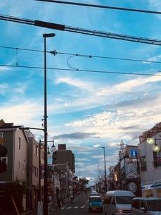 青空と雲の層の写真素材 [FYI03816831]