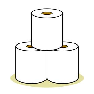 トイレットペーパーのイラスト素材 [FYI03817113]