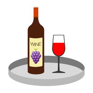 トレーに乗ったワインのイラスト素材 [FYI03817143]