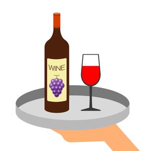 手に持ったワインのイラスト素材 [FYI03817144]