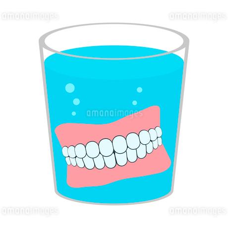 入れ歯洗浄のイラスト素材 [FYI03817148]