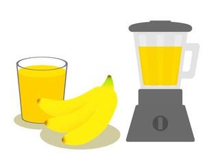 バナナジュース作りのイラスト素材 [FYI03817158]