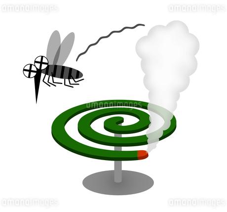 蚊取線香で蚊を駆除のイラスト素材 [FYI03817165]