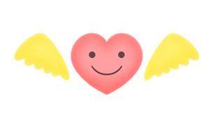 ハートの天使のイラスト素材 [FYI03817166]