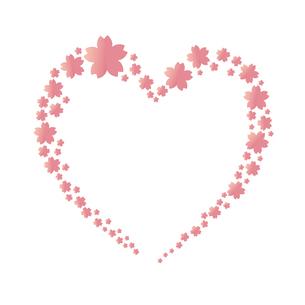 桜 ハート フレームのイラスト素材 [FYI03817175]
