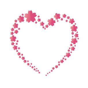 桜 ハート フレームのイラスト素材 [FYI03817198]