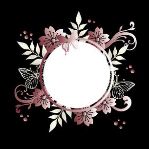 桜 蝶 フレームのイラスト素材 [FYI03817253]