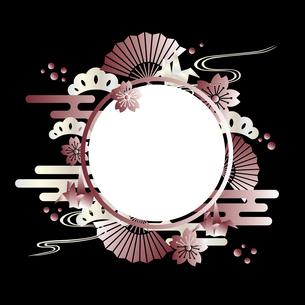桜 和柄 フレームのイラスト素材 [FYI03817274]