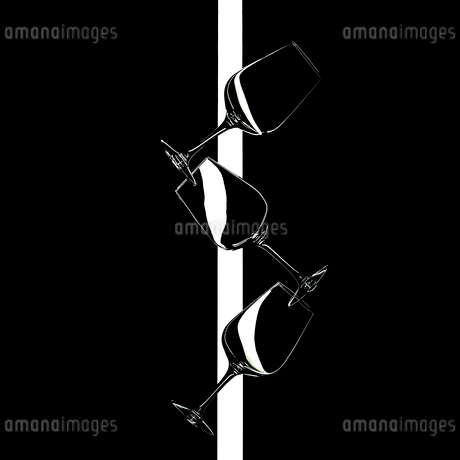 Group of wine glasses abstract artの写真素材 [FYI03817466]