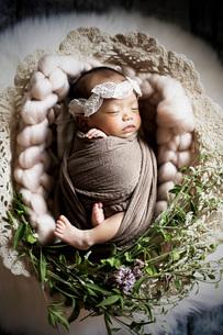 赤ちゃん ニューボーンの写真素材 [FYI03817756]