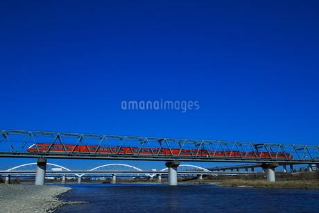 小田急ロマンスカーGSE(コピースペース有り)の写真素材 [FYI03817760]