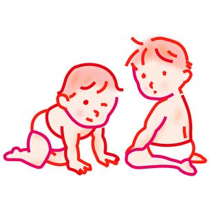 赤ちゃんのイラスト素材 [FYI03817770]