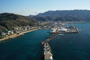 千葉県金谷港の空撮の写真素材 [FYI03817879]