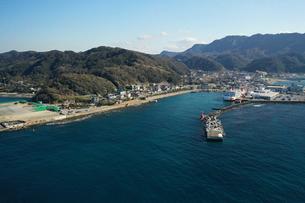 千葉県金谷港の空撮の写真素材 [FYI03817881]
