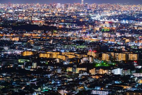 五月山展望台からの夜景の写真素材 [FYI03817922]