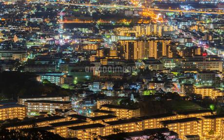 五月山展望台からの夜景の写真素材 [FYI03817923]