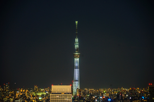 文京シビックセンターから見えるスカイツリーの写真素材 [FYI03817936]
