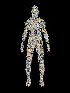 デジタル数字で構成される人体のイラスト素材 [FYI03820762]
