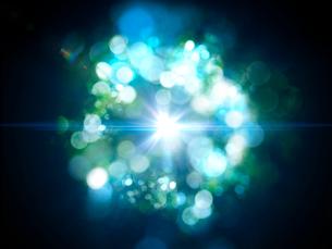 放射光と輪を成す色鮮やかな光芒群のイラスト素材 [FYI03820770]