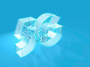 回路と数字を内包する半透明立体5G文字のイラスト素材 [FYI03820807]