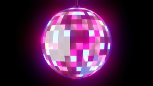 Disco ball on black backgroundのイラスト素材 [FYI03821132]