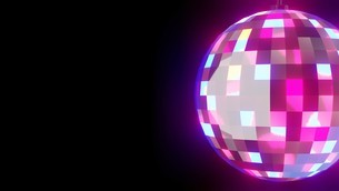 Disco ball on black text spaceのイラスト素材 [FYI03821133]