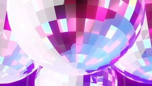 Disco balls on black backgroundのイラスト素材 [FYI03821137]