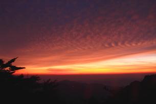 夕焼け染まる雲の写真素材 [FYI03821277]