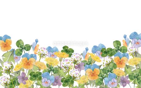 春の花水彩画のイラスト素材 [FYI03821752]