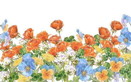春の花水彩画のイラスト素材 [FYI03821755]