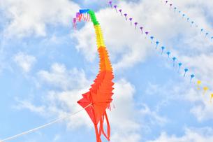 青空に連凧の写真素材 [FYI03821758]