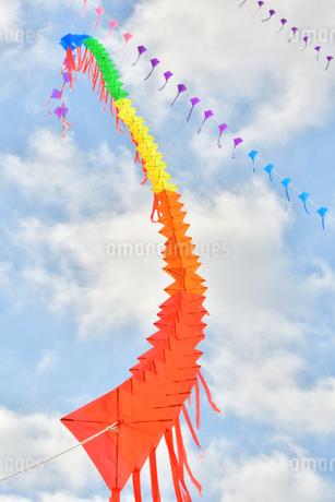 青空に連凧の写真素材 [FYI03821759]