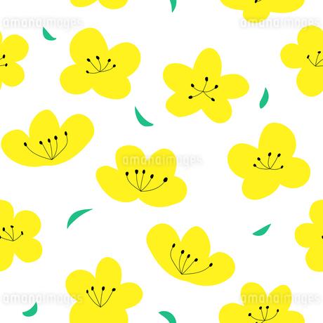 花柄のシームレスパターンのイラスト素材 [FYI03821805]