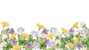 春の野原水彩画のイラスト素材 [FYI03821865]