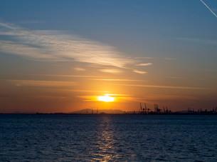 夕日の写真素材 [FYI03821939]