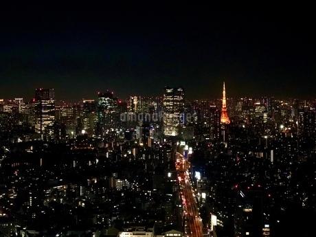渋谷スクランブルスクエアからの夜景の写真素材 [FYI03822069]