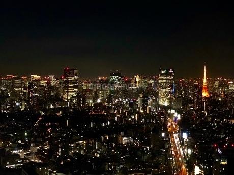 渋谷スクランブルスクエアからの夜景の写真素材 [FYI03822070]