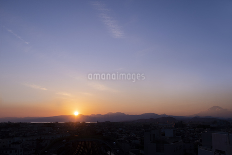 夕焼けの空の写真素材 [FYI03822630]