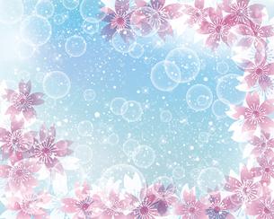 桜 春 背景のイラスト素材 [FYI03822861]