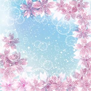 桜 春 背景のイラスト素材 [FYI03822990]