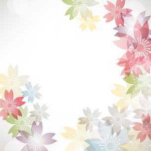 桜 背景のイラスト素材 [FYI03823153]
