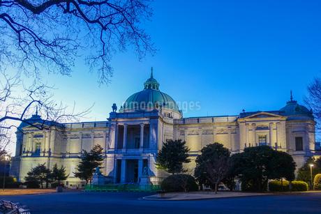 ライトアップされた東京国立博物館の表慶館の写真素材 [FYI03823632]