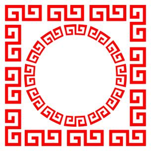 中華マークのフレームのイラスト素材 [FYI03823772]