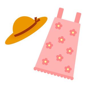 ワンピースと帽子のイラスト素材 [FYI03823775]