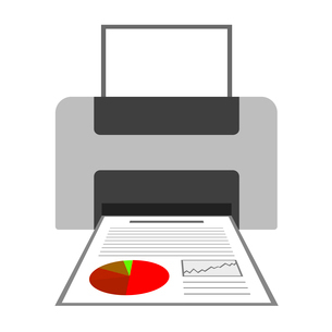 資料のプリントのイラスト素材 [FYI03823777]