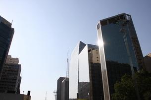 サンパウロのビジネス街の写真素材 [FYI03823844]