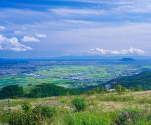 北海道 自然 風景 きじひき高原より函館、北斗市街遠望の写真素材 [FYI03824126]