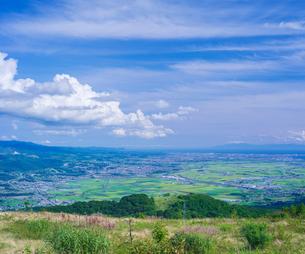 北海道 自然 風景 きじひき高原より函館、北斗市街遠望の写真素材 [FYI03824132]