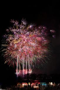 土浦全国花火競技大会のスターマイン ファンタジーロマンスの写真素材 [FYI03824217]