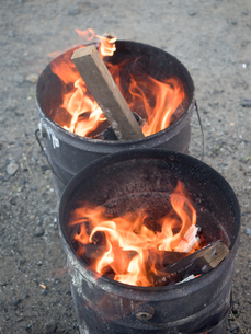 焚き火の写真素材 [FYI03824699]